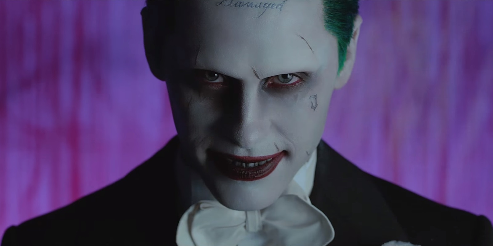 suicide squad star jared leto suits back up as the joker for new music video heyuguys. Black Bedroom Furniture Sets. Home Design Ideas