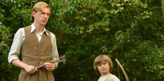 domhnall gleeson as alan milne-and-will-tilston-as-christopher-robin-milne-in-the-film-untitled-a-a-milne