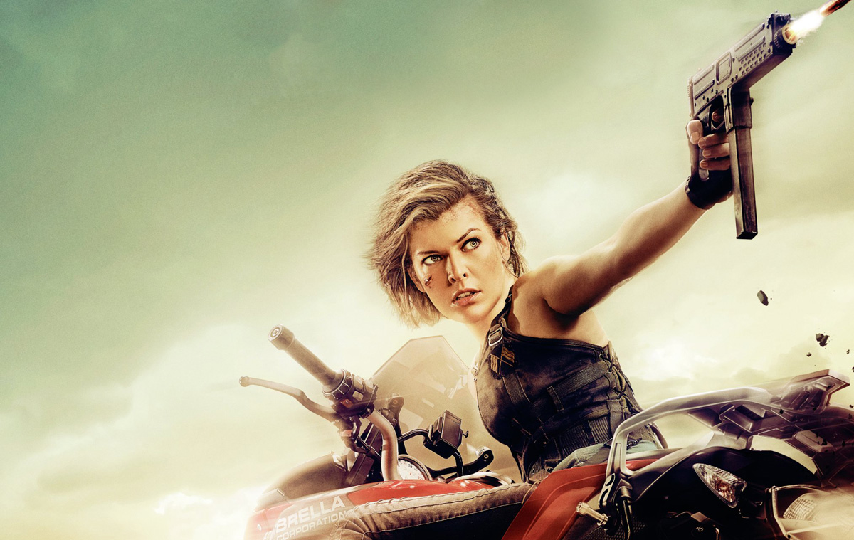 Milla Jovovich gets on her bike for the latest poster for