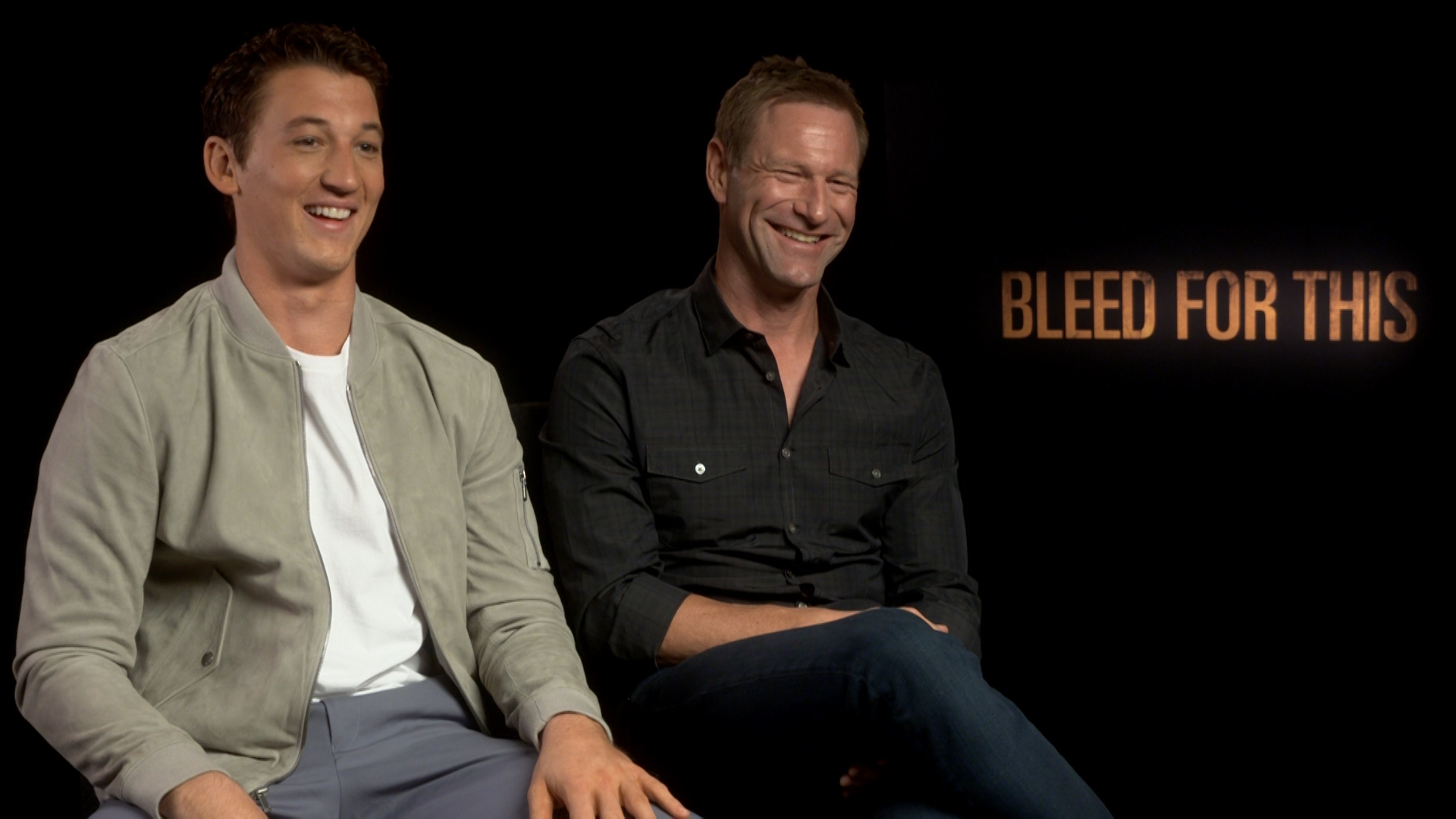 miles teller and aaron eckhart film interview bleed for this exclusive miles teller