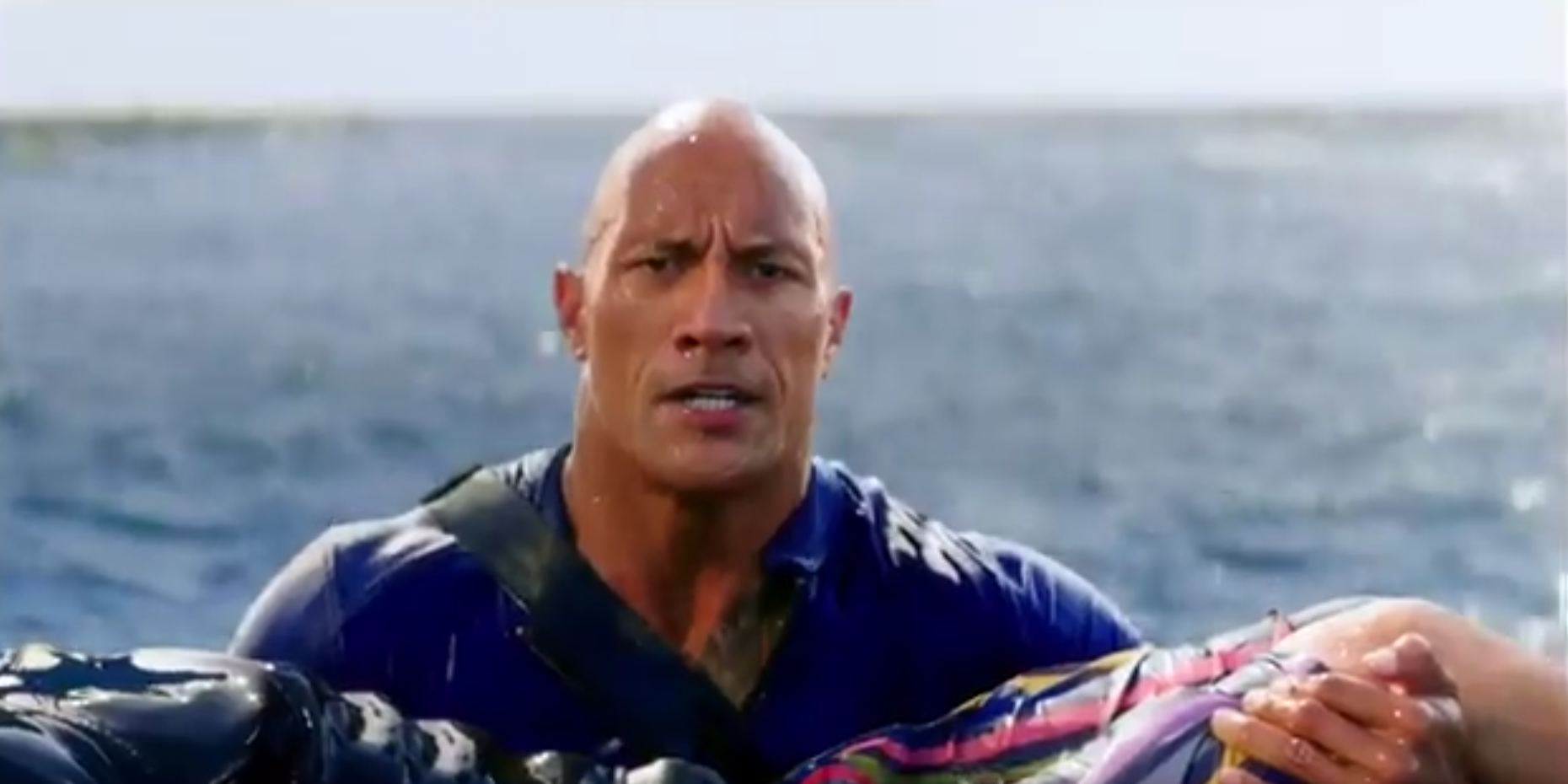 Dwayne Johnson is ready for action in the first Baywatch trailer teaser
