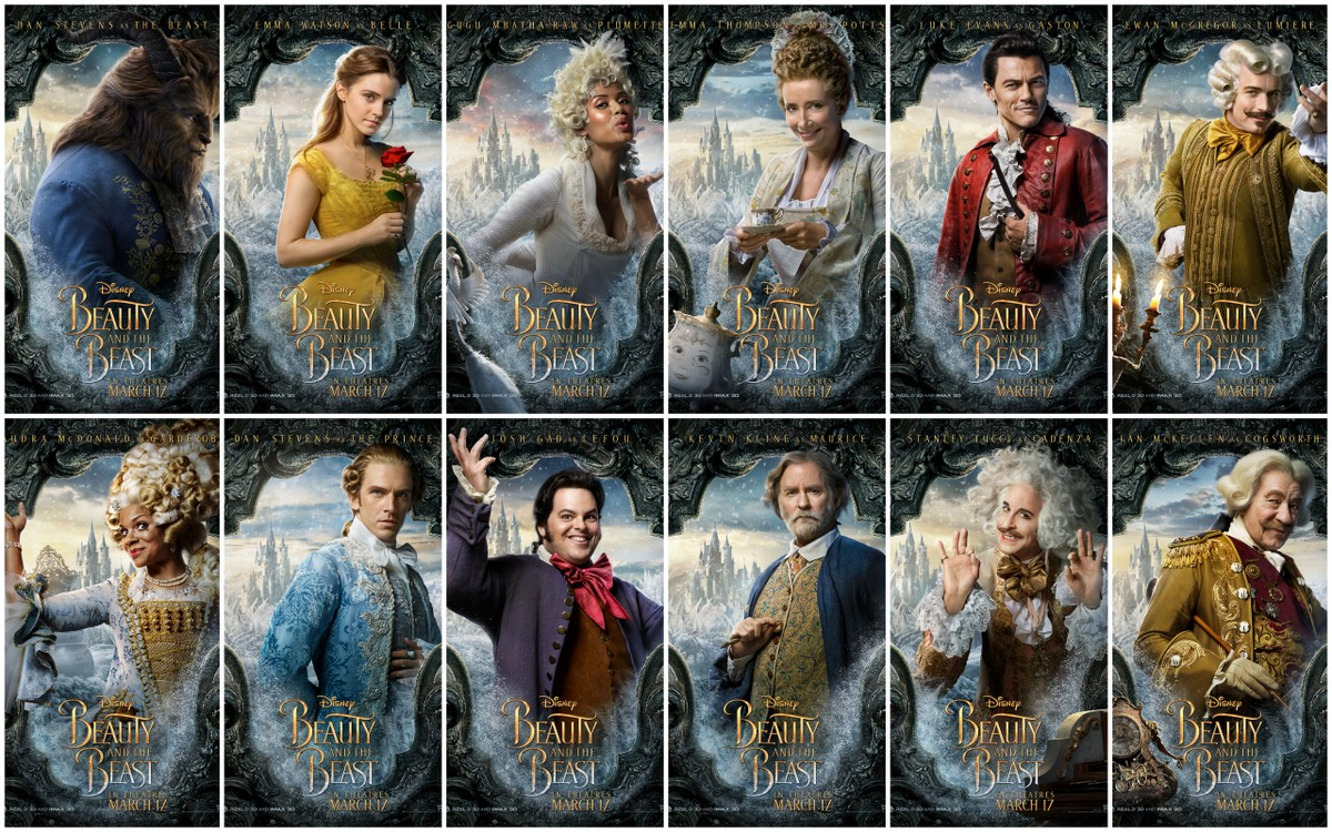 Motion Posters For Disneys Live Action Version Of Beauty And The Beast
