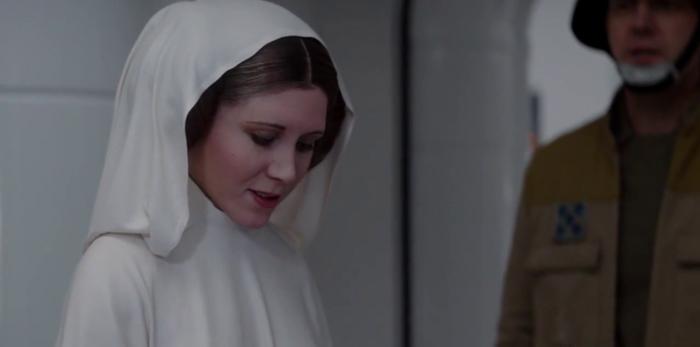 CG Princess Leia Rogue One