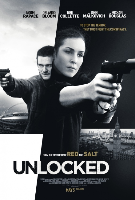Unlocked Poster - Noomi Rapace and Orlando Bloom