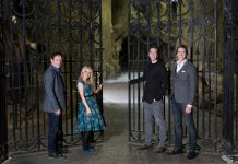 Evanna Lynch Jason Isaacs James & Oliver Phelps in the Harry Potter film series, venture into the Forbidden Forest (3)