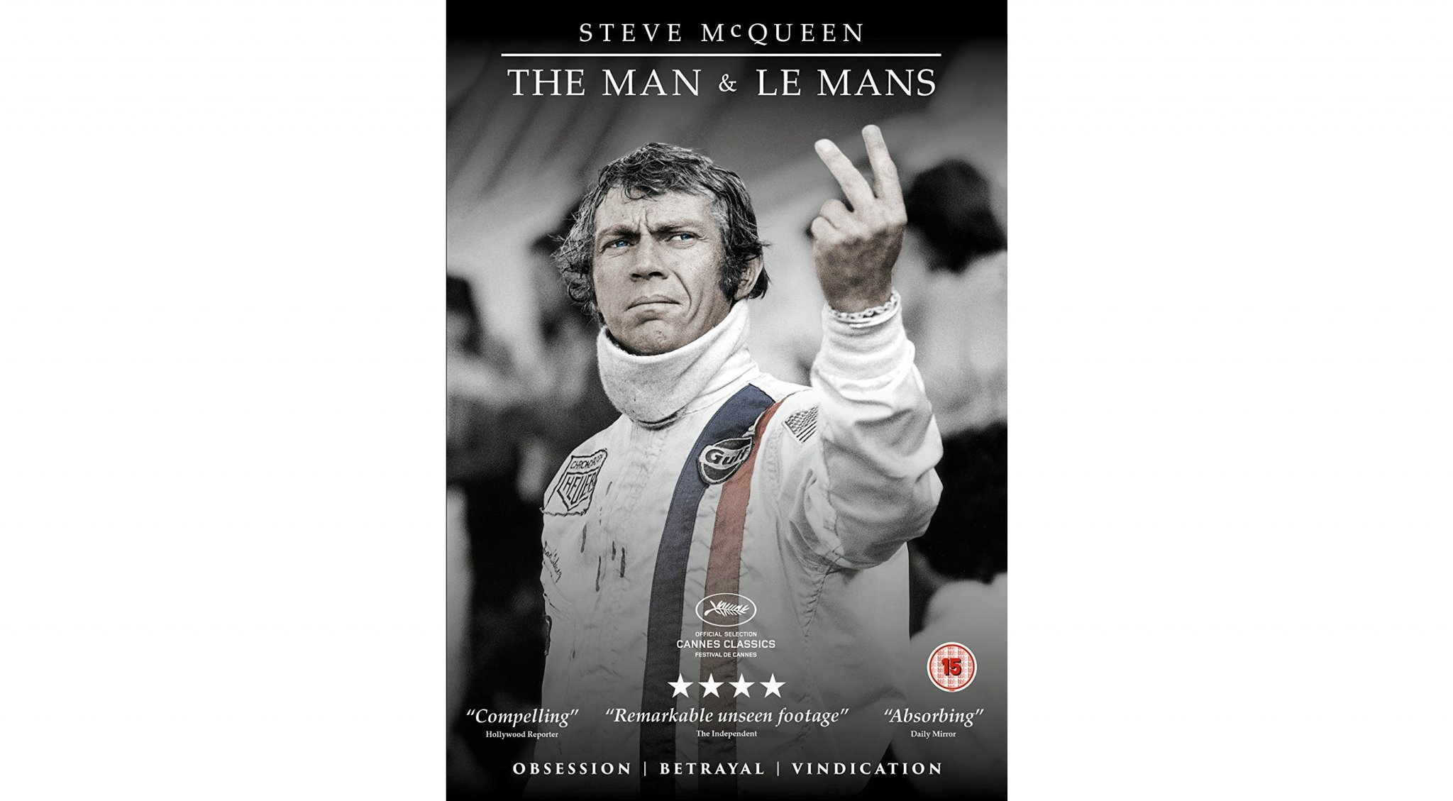 win steve mcqueen the man and le mans poster and blu ray heyuguys. Black Bedroom Furniture Sets. Home Design Ideas