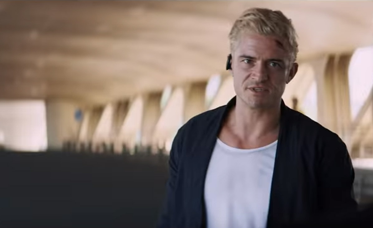 orlando bloom channels his inner statham in trailer for the shanghai job heyuguys. Black Bedroom Furniture Sets. Home Design Ideas