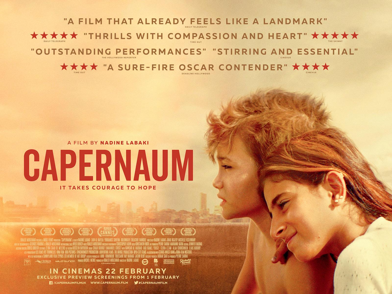 「Capernaum 2018 uk poster」的圖片搜尋結果