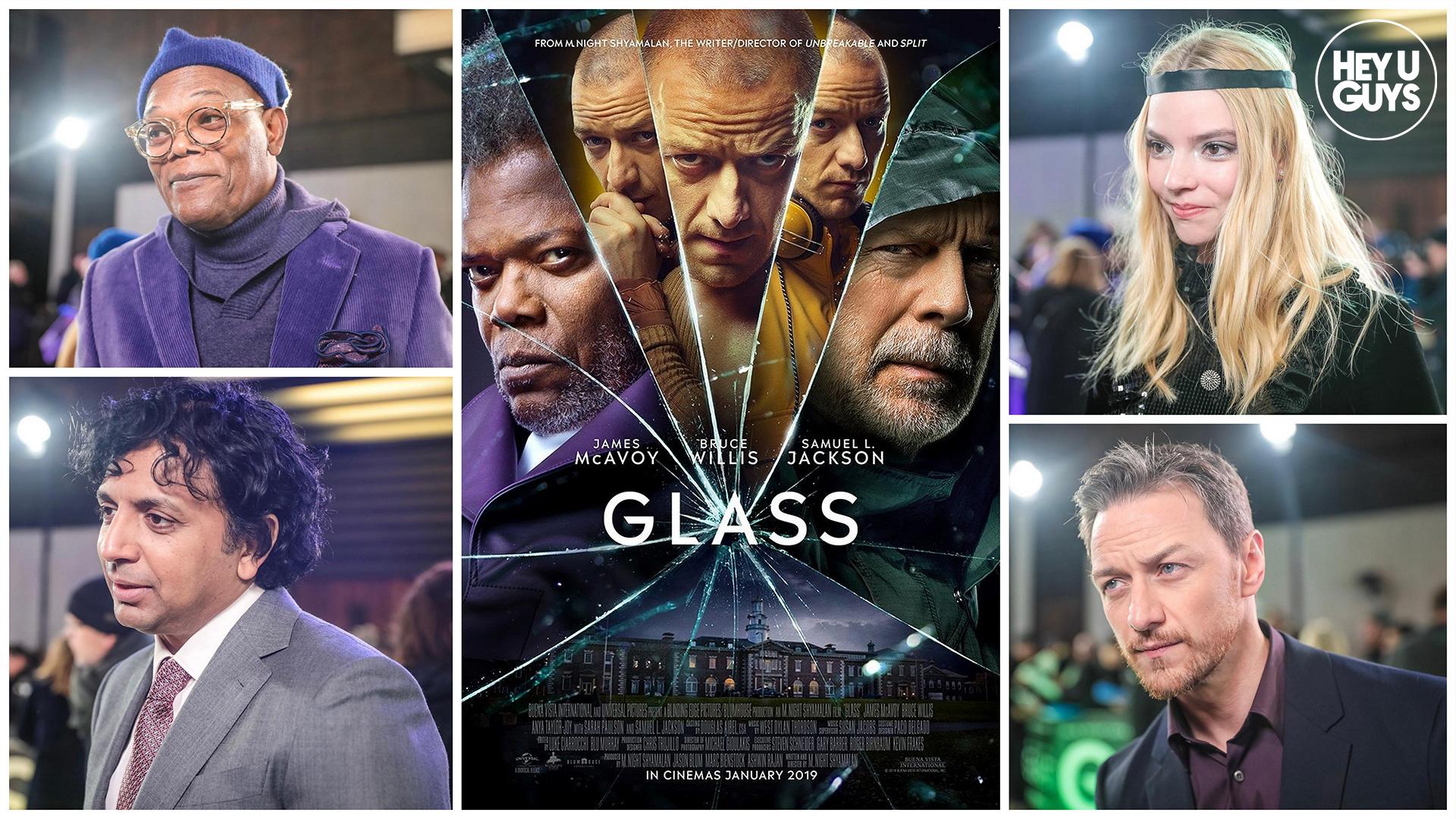 2019 Movie Poster Glass: Glass Premiere Interviews